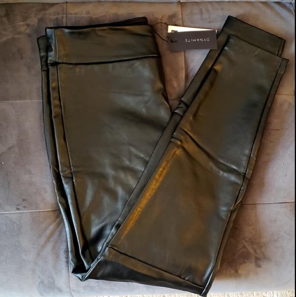 Brand New Imitation Leather Leggings